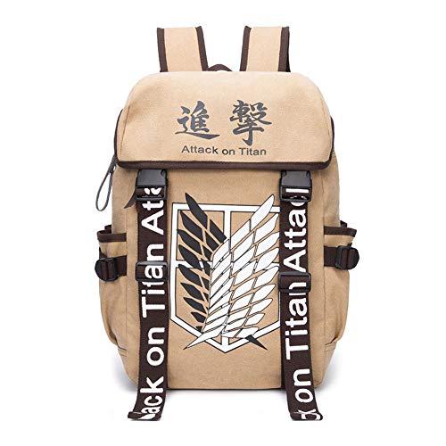 Anime Rucksack Angriff auf Titan Anime Cosplay Eren Tasche Cartoon Leinwand Rucksack Shingeki Keine Kyojin Schul Schultern Reisetaschen