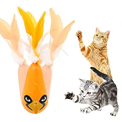 Cat toys Automatic Feather Interactive Shake Tumbler Toy Entertainment Exercise For Most Cats - FIRIK …