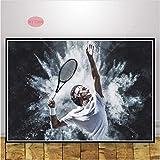 Poster Ölgemälde Roger Federer Zitat Kunstwerk Stern