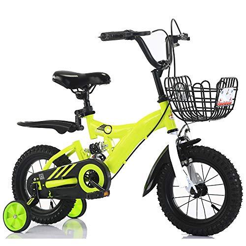 Axdwfd Kids Bike Boy's Bike voor 2-9 Jaar Oud Kind Cadeau, Kinderen Kinderen Fiets met Achterspatbord, Kind Fiets 12 14 16 18 Inch Blauw, Rood, Geel Fiets