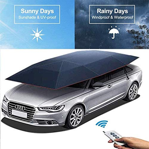 Carport Folded Tent Automatic Car Umbrella Automatic Car Cover Portable Sunscreen Shed (Full Automatic), Strong Double Windproof Design, New Outdoor Car Tent Car Sunshade Sunshade Oxford Cloth Univers