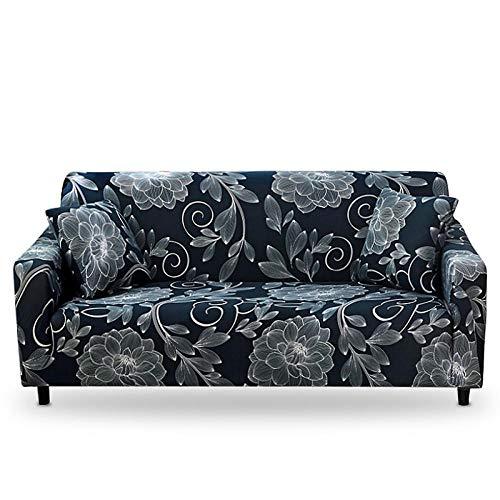 Funda de sofá con Todo Incluido Patrones geométricos Fundas de sofá Fundas de sofá elásticas con Estampado Moderno Protector de Muebles,Color 2,4 Seater(235-300cm)