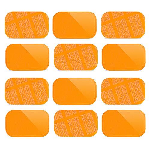 高電導ジェルシート 交換パッド CAMORF交換用ジェルパッド 日本製ジェル採用 EMS腹筋ベルト用 腹筋 ウエスト トレーニング 品質保証 (12枚/1セット サイズ:長6cm*幅4cm 腹筋専用 NEW)