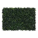 "LOHASBEE Artificial Boxwood Hedges Panels, 16"" x 24"" Faux Plant Ivy Fence Wall Cover, Outdoor Privacy Fence Screening Garden Decoration - 6 Pack"