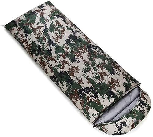 Sac de couchage Camp épissé Double en Plein air Portable comprimé (capacité: 1,5 kg, Couleur: Camouflage Vert)
