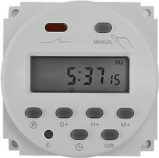 Haobase LCD Digital Programmable Timer weekly 7days Microcomputer Timer (220V 12V 110V 24V DC) (12V)