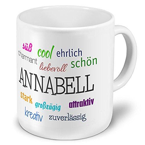 printplanet XXL Riesen-Tasse mit Namen Annabell - Positive Eigenschaften - Namenstasse, Kaffeebecher, Mug, Becher, Kaffeetasse