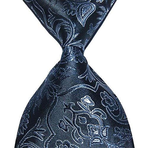 Zjuki Cravate Paisley Cravate Floral Cadeau pour Hommes Cravate en Soie 10cm Largeur Mode Jacquard Tissé Tenue de soirée Costume Business Fête De Mariage A