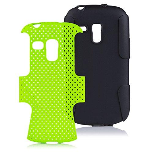 iCues Samsung Galaxy S3 MINI | 2 Part Air Hülle Grün | [Bildschirm Schutzfolie Inklusive] Outdoor Dickes Hardcase Stoßfest Militär Lifeproof Männer Jungs Schutzhülle Hülle Cover Schutz