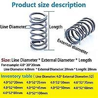 機械部品 拡張圧縮ばね 5ピュアマルチ仕様ライン直径4.0mm、外径52mm、長さ20mm~100mm圧縮バネ圧力スプリングスプリング(サイズ:25mm(5pcs)) (Size : 25mm(5Pcs))