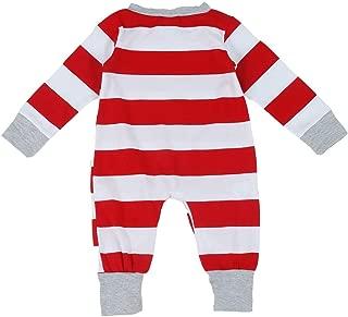 ZEVONDA Christmas Family Matching Pyjama - Comfy Striped Homewear Sleepwear Outfits Christmas Pajamas Set Pjs Sleepsuit Nightwear Mens Womens Girls Boys Kids Baby