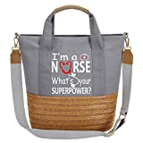 So'each Bolso bandolera para mujer Nurse.Your Super Power?, color Gris, talla Medium