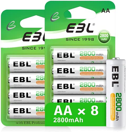 EBL EBL 2800mAh, wiederaufladbar Batterien mit Bild