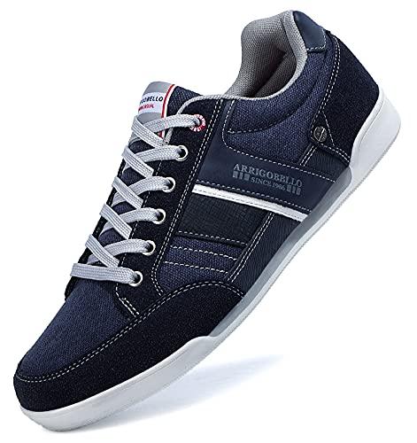 TARELO Zapatillas Hombre Casual Sneaker Moda Deportivas Interior Zapatos Gimnasia Comodos Exterior Running Deportes Talla 41-46 (Azul, Numeric_44)