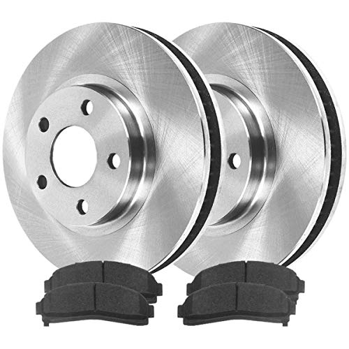 AutoShack CBO64037652BEX Pair of 2 Front Driver and Passenger Side Disc Brake...