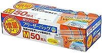 大和物産 フリーザーバッグ 増量 フリーザーバッグ Wジッパー 50枚組 クリア M