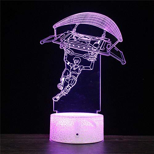 Fortnight 3D Illusion Night Light Beside Table Lamp 16 Farben ändernde Touch Desk Lampe für Kinder Geburtstag Weihnachtsgeschenke