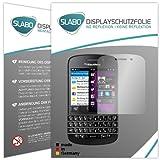 Slabo 2 x Bildschirmschutzfolie BlackBerry Q10 Bildschirmschutz Schutzfolie Folie No Reflexion|Keine Reflektion MATT - Entspiegelnd Made IN Germany