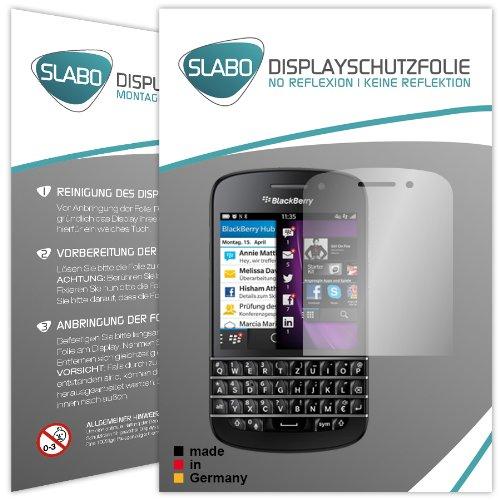 2 x Slabo Bildschirmschutzfolie BlackBerry Q10 Bildschirmschutz Schutzfolie Folie