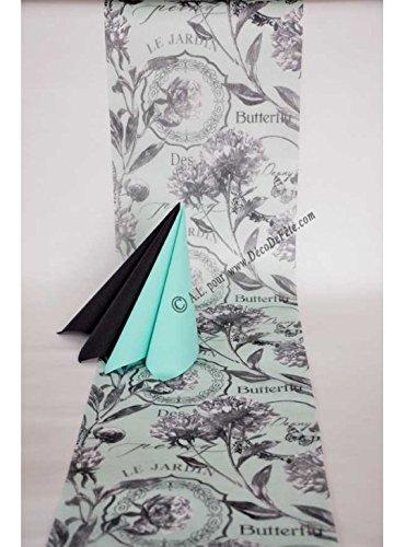 LAPLASTOSE 5M Chemin de Table Butterfly Aqua