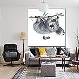 Imprimir en Lienzo Koala Pared decoración del hogar Sala de Estar Arte Carteles fotos70x70cmPintura sin Marco