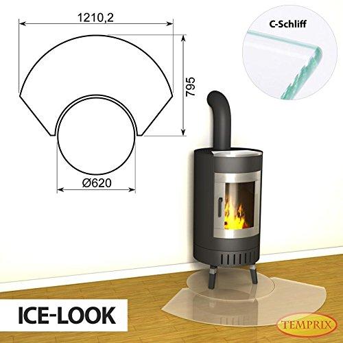 Vloerplaat open haard gedeelde glasplaat ijslook seizoensplaat oven voorlegplaat schoorsteenvloerplaat Winnipeg