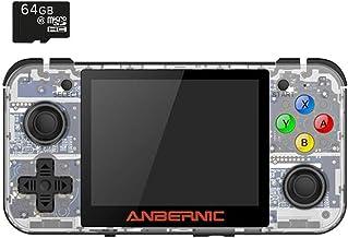 BITTBOY RetroGame RG350 Transparent White Retro Gaming Portable Handheld Console OpenDingux CFW IPS Display 2500mAh Battery [RG-350-TW]