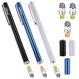 aibow タッチペン スタイラスペン iPad iPhone スマホ Android タブレット Switch 対応 3本+ペン先3個 6mm