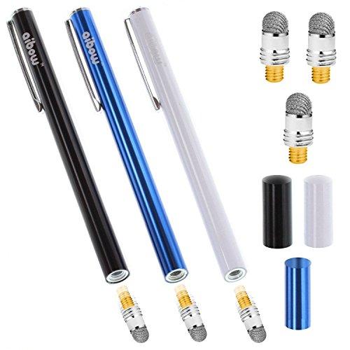 aibow タッチペン スマートフォン タブレット スタイラスペン iPad iPhone Android 3本+ペン先3個 6mm (ブ...