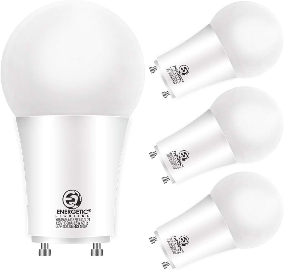 LED 2 Prong Dealing full price reduction Light Bulbs 8.5 Watt Equivalent 4000K Selling 60 GU24