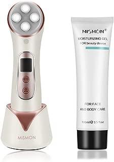 Facial Aparato Radiofrecuencia, 5 Modos de Terapia de luz LED, Antiarrugas, Anti-envejecimiento, Rejuvenecimiento, Limpieza Profunda, Cuidado Facial, con Gel Conductor MiSMON 100ml