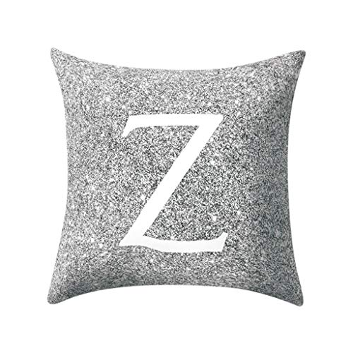 WUDUBE Moderne Stil einfache Mode Brief Muster Hause Kissen Sofa Abdeckung Kissenbezug, muss Dekoration Wohnzimmer autositz Sofa, 45x45 cm