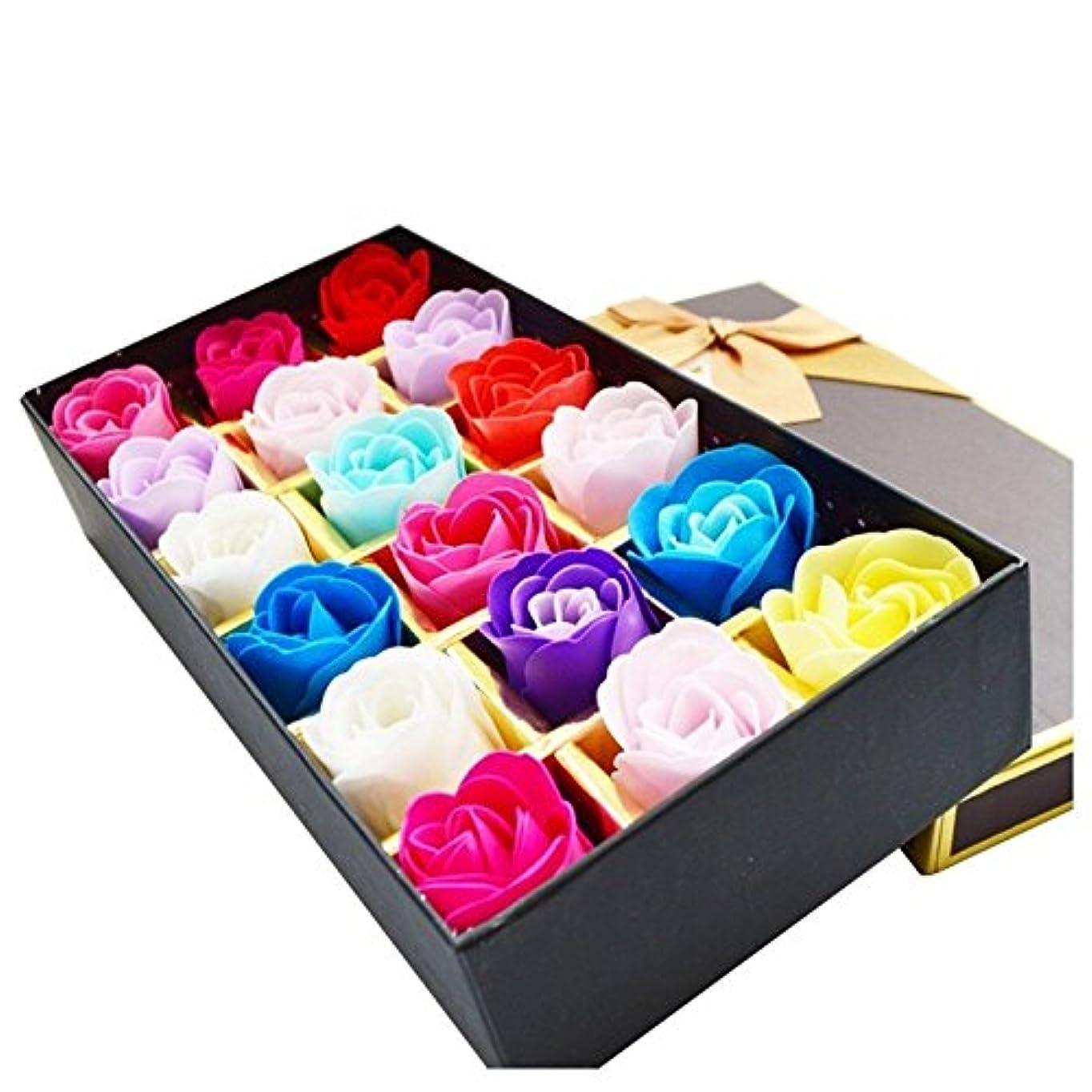 ページェント傾いた人工的なローズ フラワーソープ 石鹸 薔薇 プレゼント お祝い ③ #335