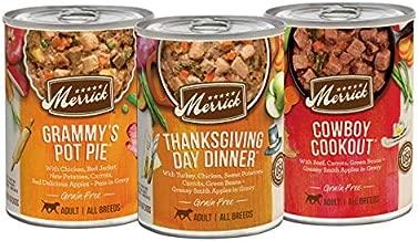 Merrick Grain Free Favorites Wet Dog Food Variety Pack - (12) 12.7 oz Cans