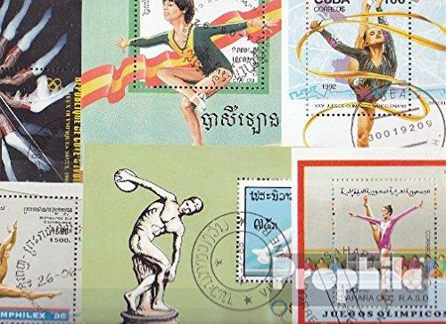 Prophila Collection Motivazioni 10 Diversi Ginnastica- e Ginnastica Blocchi (Francobolli per i Collezionisti) Altri Sport