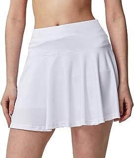 Raroauf Women's Athletic Skorts Lightweight Active Skirts with Shorts Pockets Running Tennis Golf Workout Clothing