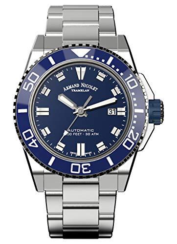 Reloj armand nicolet js9 a480agu-bu-ma4480aa automático orologio Uomo...
