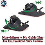 Auto Wayfeng WF® CCD visión nocturna 360 Degree coche trasera/visión frontal cámara de marcha atrás cámara de copia de seguridad 2 LED