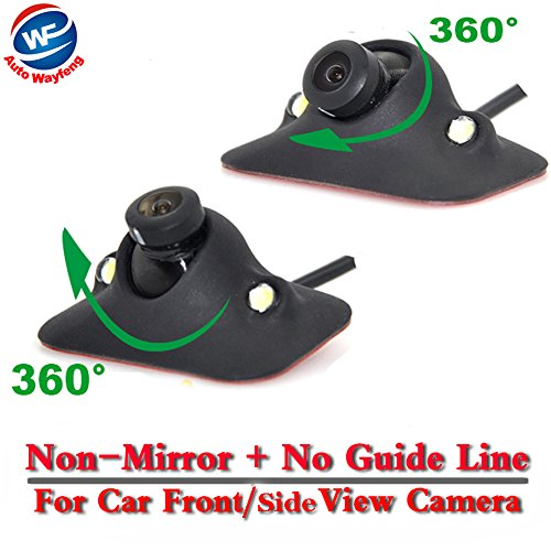 Auto Wayfeng WF® HD CCD nachtzicht 360 graden auto achter/vooraanzicht camera omgekeerde back-up camera 2 LED, Front- / zijaanzicht camera.