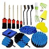 Decorel Detallando el Conjunto de Cepillo Power Scrubber Scrubber Set de Cepillo de Nylon Pinceles Buffing Pads Ajuste para respiraderas de Aire Limpieza de Polvo Limpieza de Polvo (Color : Red)