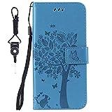 SsHhUu Huawei Honor 7i Case, Premium PU Leather Folio