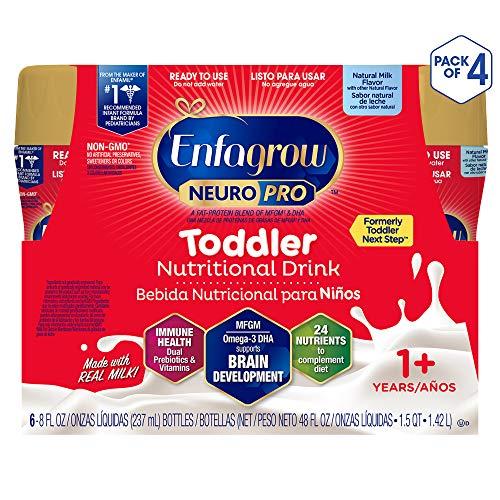 Enfagrow Neuropro Omega 3 DHA Prebiotics Non-GMO Toddler Nutritional Milk Drink, Natural Milk Flavor...