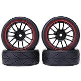 Domybest 4pcs Pneumatici in Gomma di Auto RC per 1/10 Universal Car Redcat Traxxas