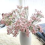 Mitlfuny Unechte Blumen,Künstlich Künstlich Gefälschte Seidenblumen Baby's Atem Blumen Hochzeitsstrauß Party Dekore (Pink)
