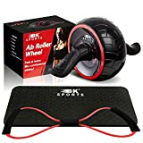 Ab Roller for Abs Workout, 3-in-1 Ab Roller Wheel, Knee Pad & Figure 8 Fitness Resistance Band, Perfect Home Gym Abdominal Exercise Equipment for Men Women - Train at Home Like a Professional Athlete!