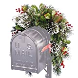 National Tree 3 Foot Wintry Pine Collection Mailbox Swag with Red Berries, Cones and Snowflakes (WP1-813-3-1) (Renewed)