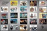 1art1 James Bond 007-23 Filme, 007 Jagt Dr. No Bis Skyfall Poster 91 x 61 cm