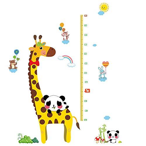 Winhappyhome Animaux Girafe Wall Art Stickers pour Le Salon Enfants Chambre Nursery Fond Amovible DéCoration Stickers