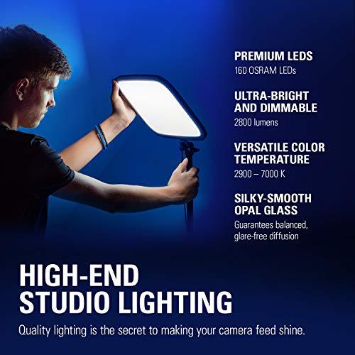 Elgato Key Light, Professional Studio LED Panel with 2800 lumens, Colour Adjustable, App-Enabled & Cam Link 4K, Live-Streamen und Aufnehmen mit DSLR, Action Cam oder Camcorder in 1080p60 oder 4K