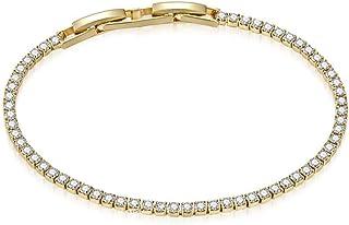 MESTIGE Golden Olivia Bracelet with Crystals from Swarovski, Gifts Women Girls, Bridal Bracelet